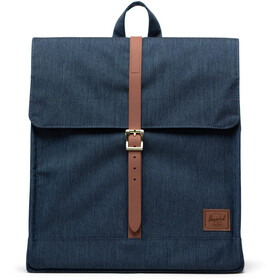 Herschel City Mid-Volume Zaino 14l, indigo denim crosshatch